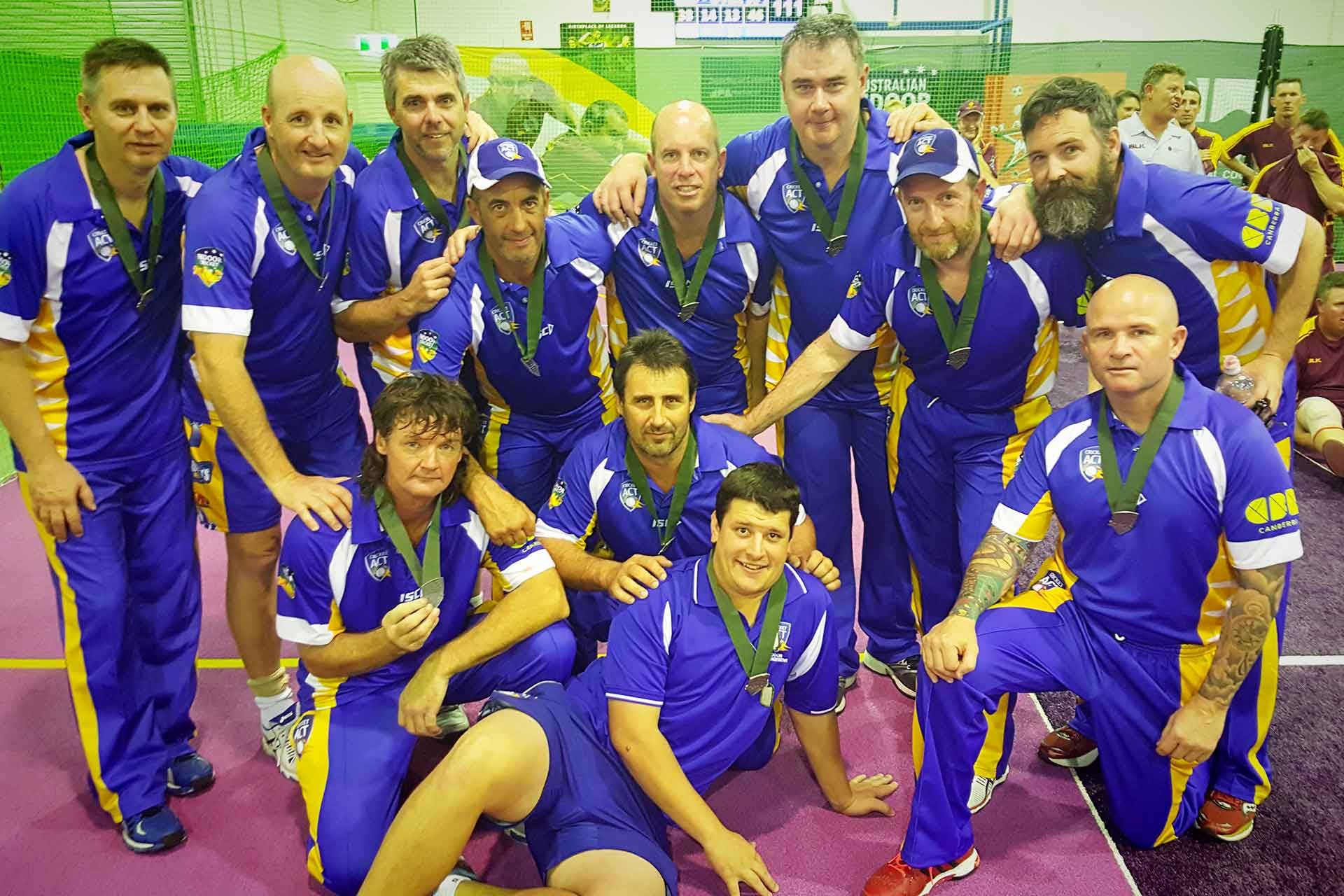 ACT Over 40s finish second at indoor masters nationals