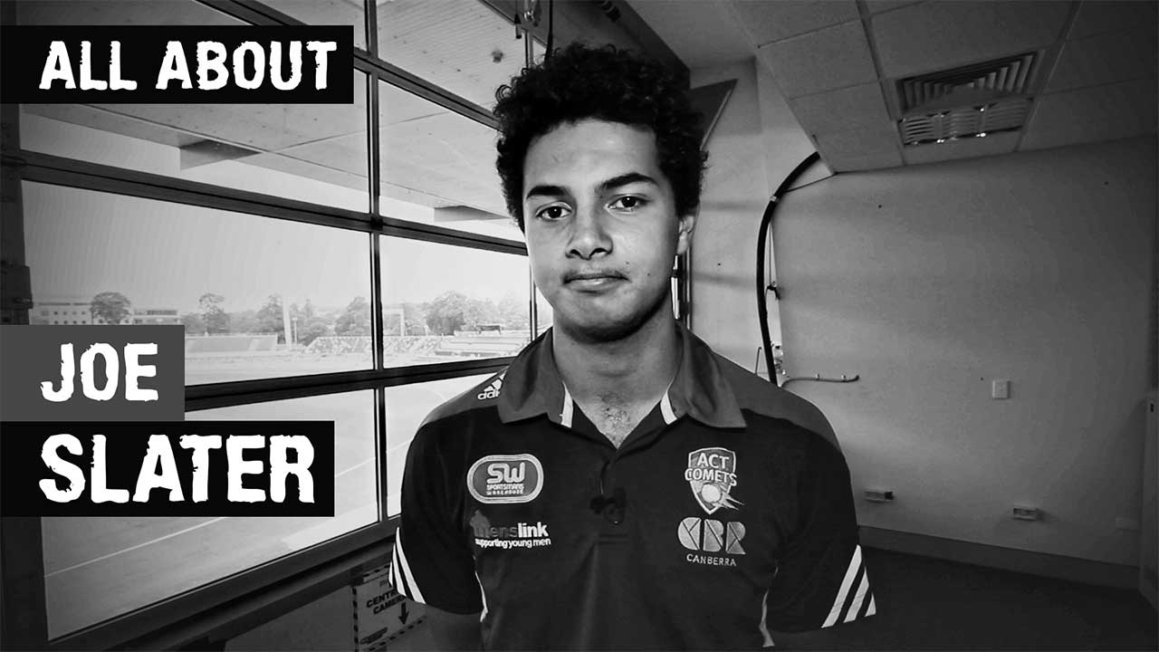 Learn all about Comets fast bowling debutant Joe Slater – and his Borat impression!