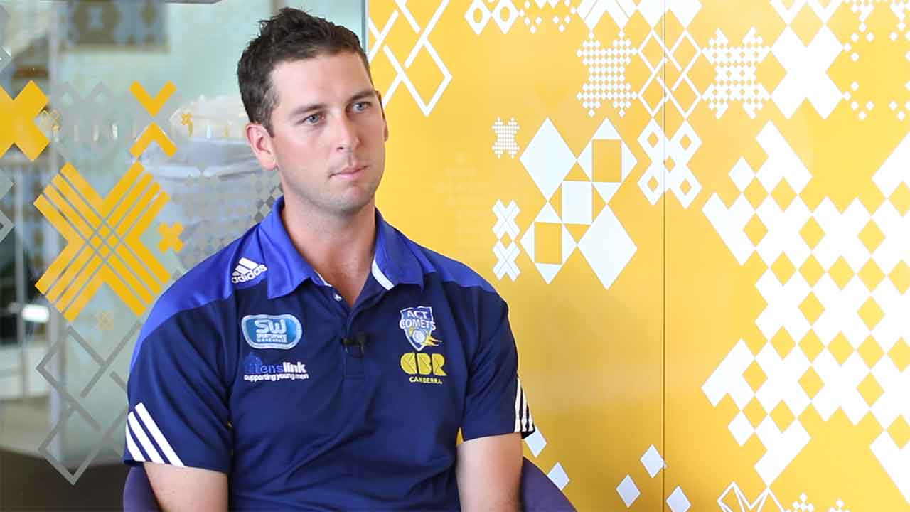 CCTV speaks with Comets Assistant Coach Kyle Piper after the side's heavy loss to Western Australia
