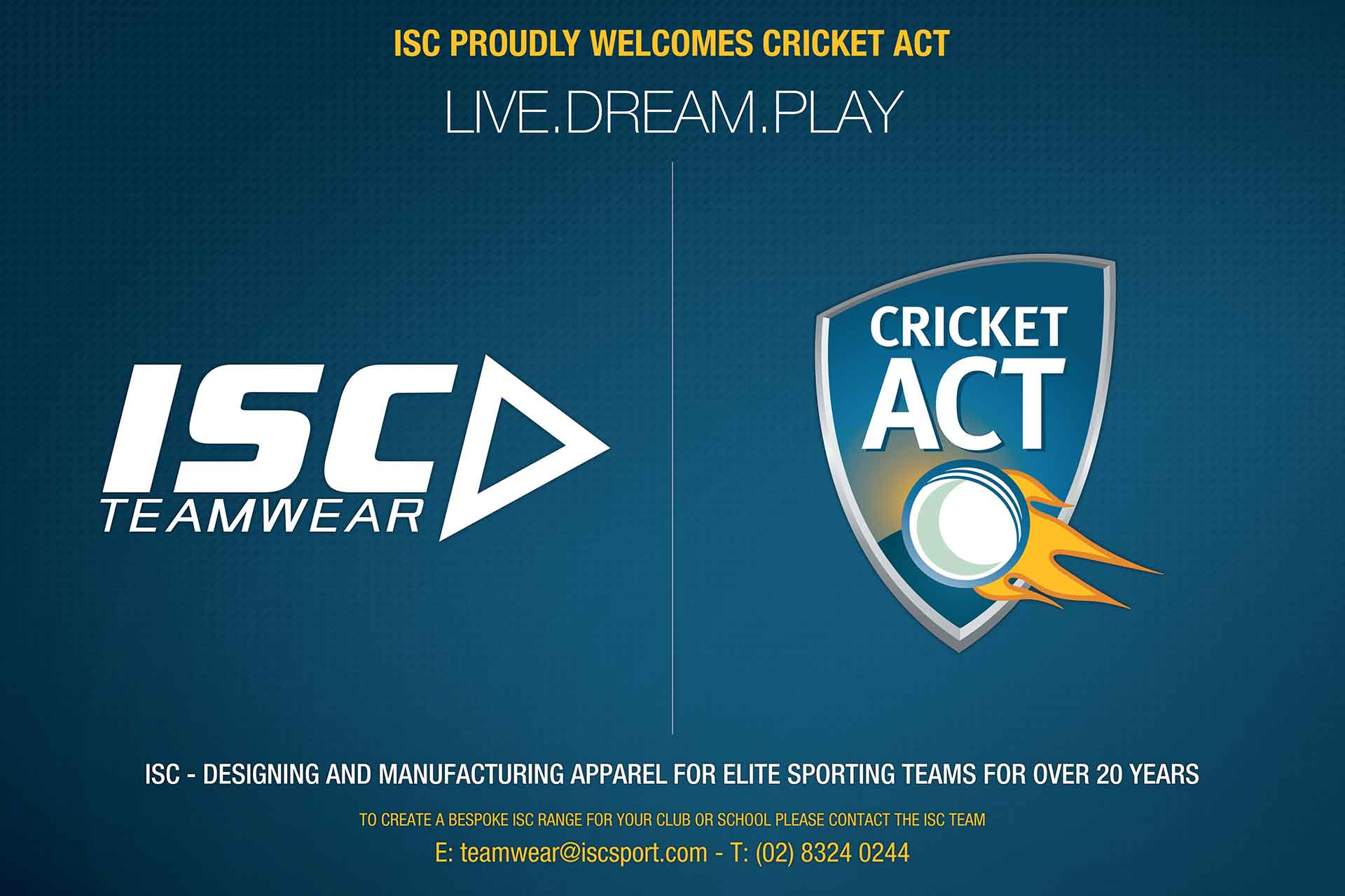 ISC to Partner with Cricket ACT