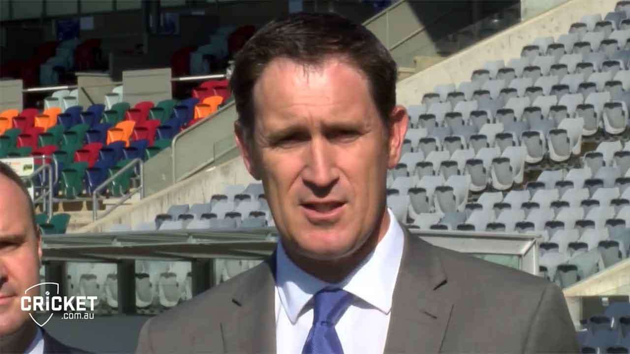 Following the historic announcement of a Test Match for Manuka Oval in the Summer of 2018-19, Cricket Australia CEO James Sutherland speaks to the media.