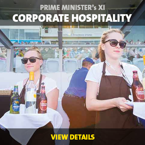 Corporate Hospitality at the Prime Minister's XI vs New Zealand match